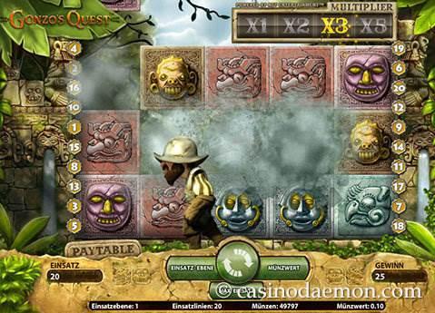 Gonzo's Quest Spielautomat screenshot 1