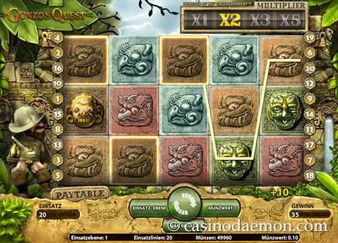 Gonzo's Quest Spielautomat screenshot 2