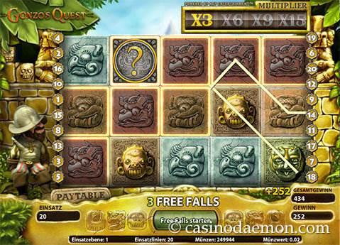 Gonzo's Quest Spielautomat screenshot 4