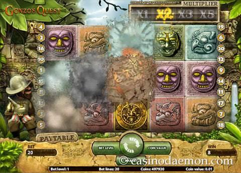 Gonzo's Quest slot screenshot 1