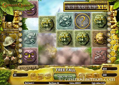 Gonzo's Quest slot screenshot 4