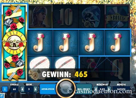 Guns N' Roses Spielautomat screenshot 1