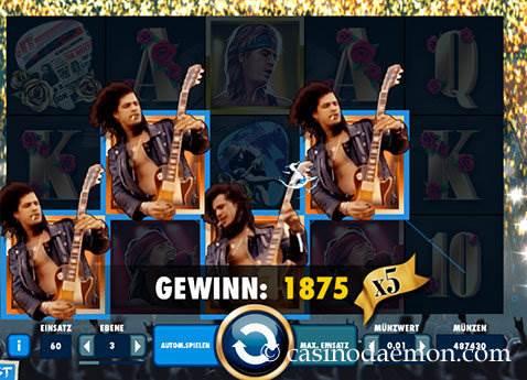 Guns N' Roses Spielautomat screenshot 2