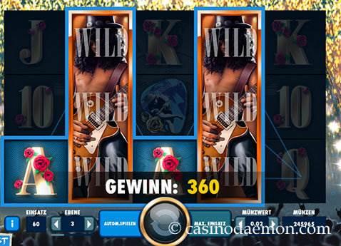 Guns N' Roses Spielautomat screenshot 3