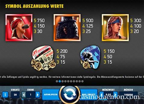 Guns N' Roses Spielautomat screenshot 4