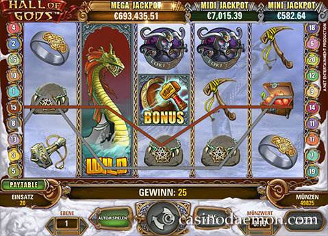 Hall of Gods Spielautomat screenshot 2
