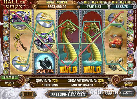 Hall of Gods Spielautomat screenshot 3