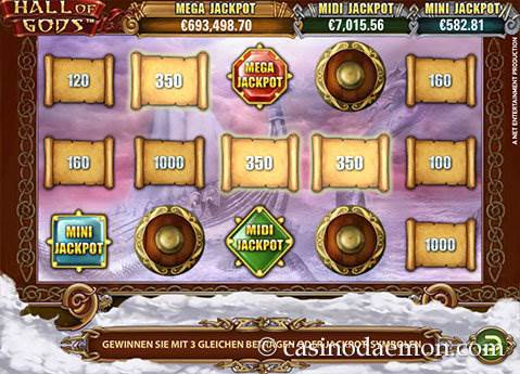 Hall of Gods Spielautomat screenshot 4