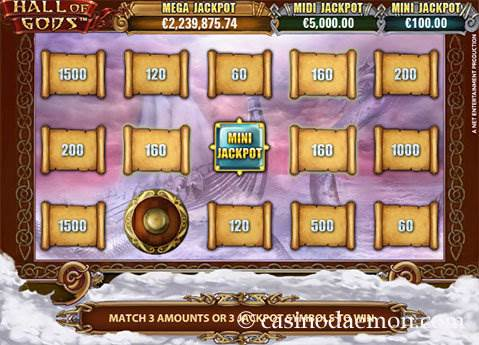 Hall of Gods slot screenshot 3