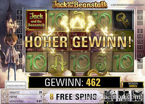 Jack and the Beanstalk Spielautomat screenshot 1
