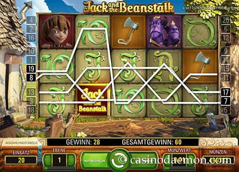 Jack and the Beanstalk Spielautomat screenshot 2