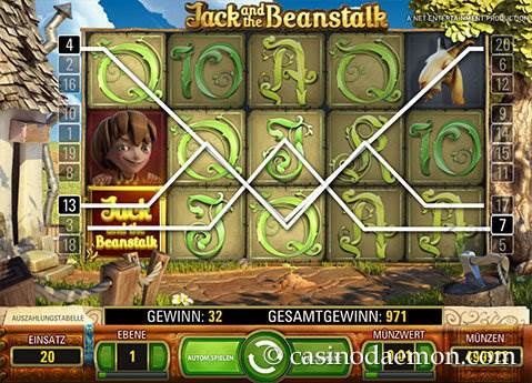 Jack and the Beanstalk Spielautomat screenshot 3
