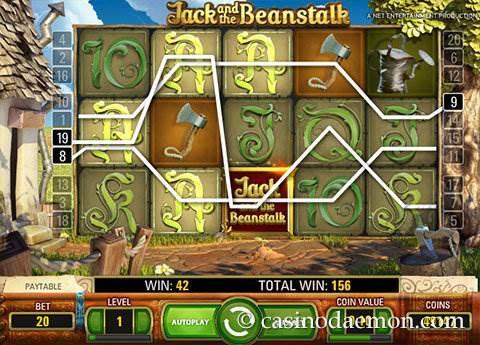 Jack and the Beanstalk slot screenshot 1