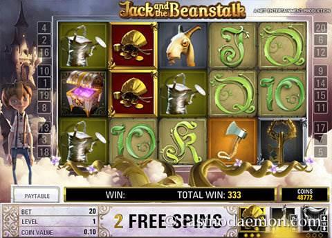 Jack and the Beanstalk slot screenshot 3
