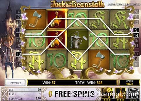 Jack and the Beanstalk slot screenshot 4