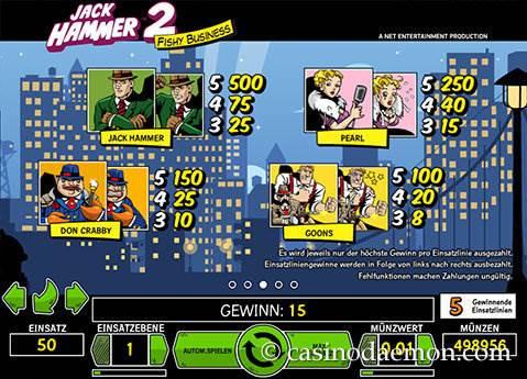 Jack Hammer 2 Spielautomat screenshot 4