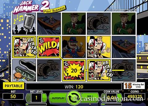 Jack Hammer 2 slot screenshot 2