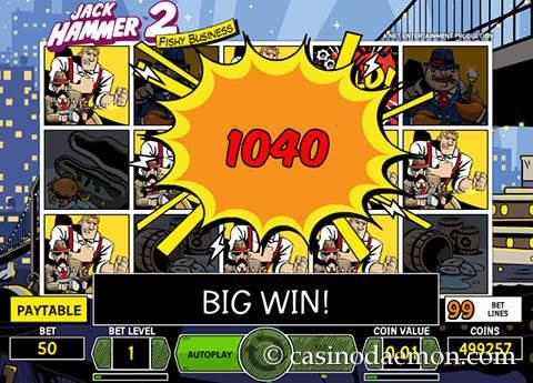 Jack Hammer 2 slot screenshot 3