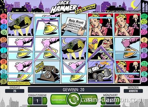 Jack Hammer Spielautomat screenshot 1