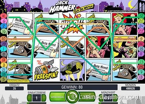 Jack Hammer Spielautomat screenshot 2