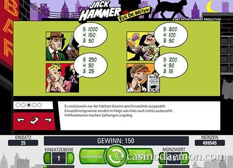 Jack Hammer Spielautomat screenshot 4