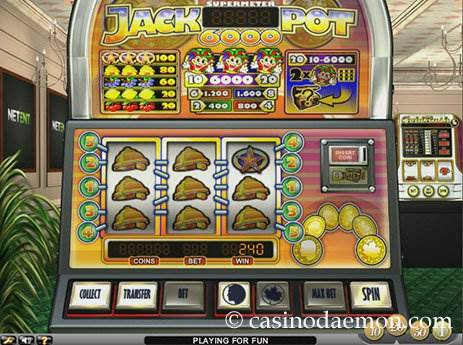 Jackpot 6000 slot screenshot 1