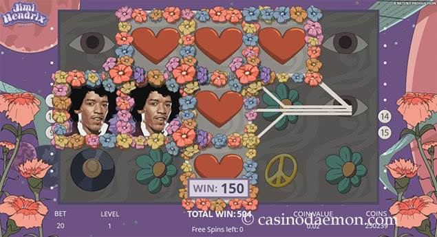 Jimi Hendrix slot screenshot 3