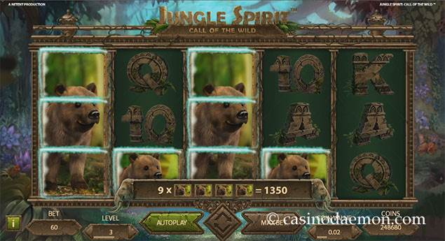 Jungle Spirit Spielautomat screenshot 2