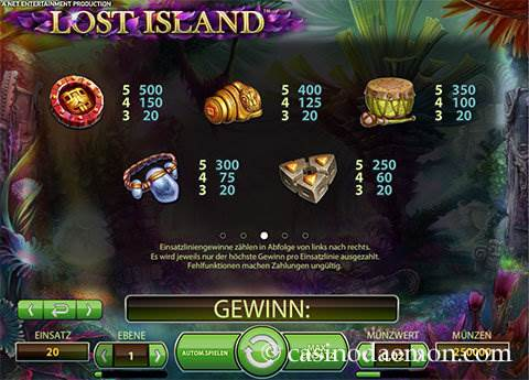 Lost Island Spielautomat screenshot 4