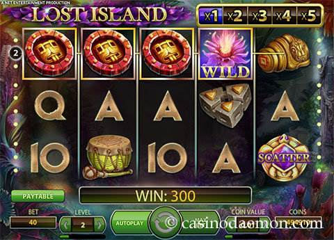 Lost Island slot screenshot 1