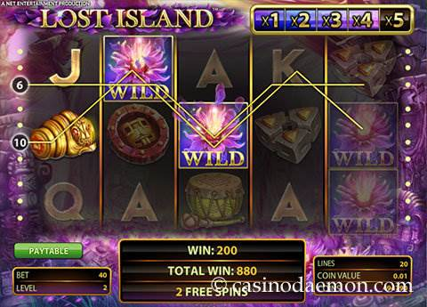 Lost Island slot screenshot 2