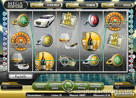 Mega Fortune Spielautomat screenshot 1