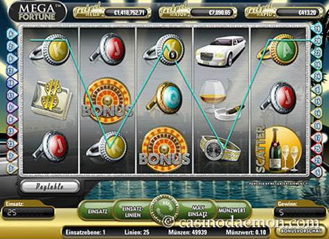 Mega Fortune Spielautomat screenshot 2