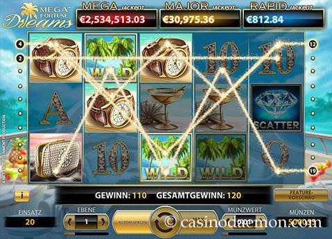 Mega Fortune Dreams Spielautomat screenshot 2