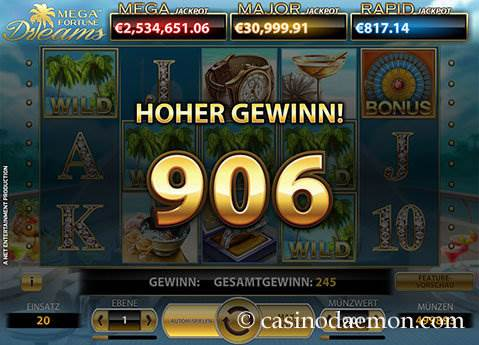 Mega Fortune Dreams Spielautomat screenshot 3
