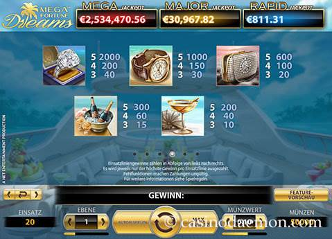 Mega Fortune Dreams Spielautomat screenshot 4