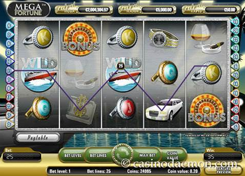 Mega Fortune slot screenshot 1