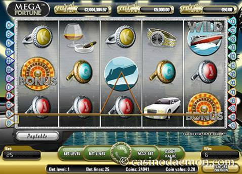 Mega Fortune slot screenshot 2