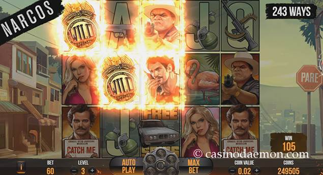 Narcos slot screenshot 1