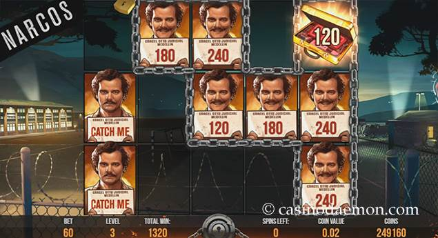 Narcos Spielautomat screenshot 2