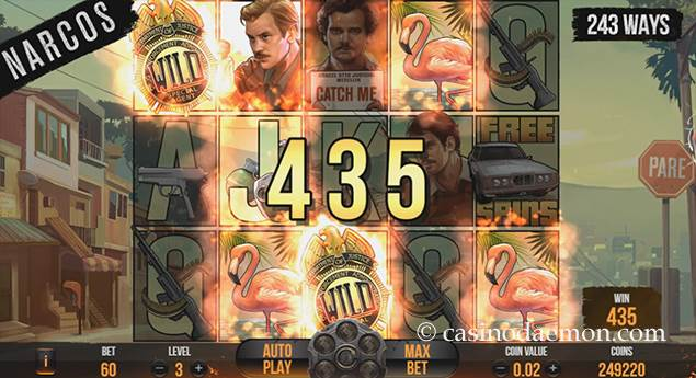 Narcos slot screenshot 3