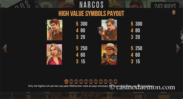 Narcos slot screenshot 4