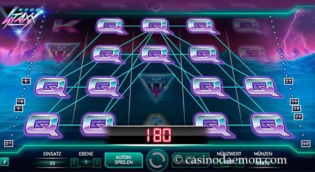 Neon Staxx Spielautomat screenshot 1