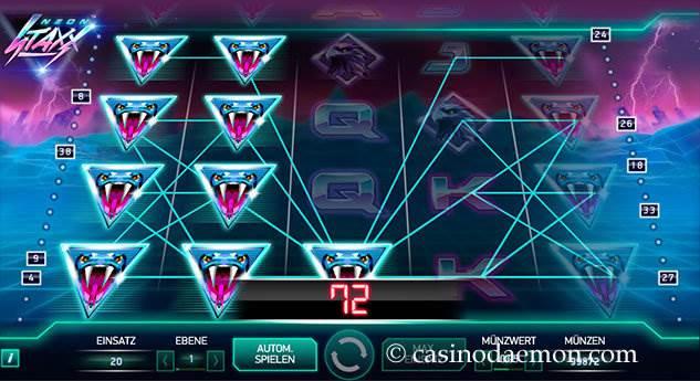 Neon Staxx Spielautomat screenshot 2