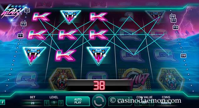 Neon Staxx slot screenshot 1
