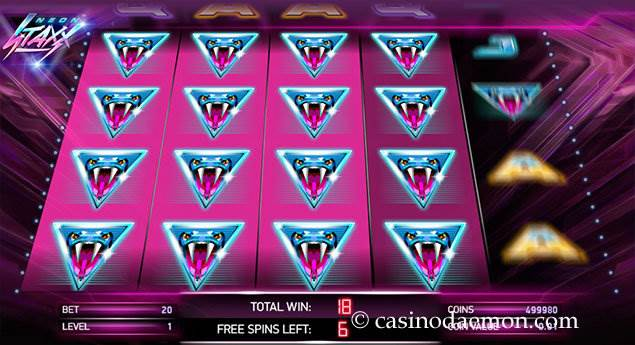 Neon Staxx slot screenshot 3