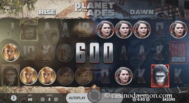 Planet of the Apes Spielautomat screenshot 1