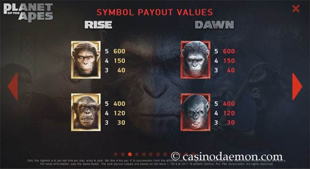 Planet of the Apes Spielautomat screenshot 4