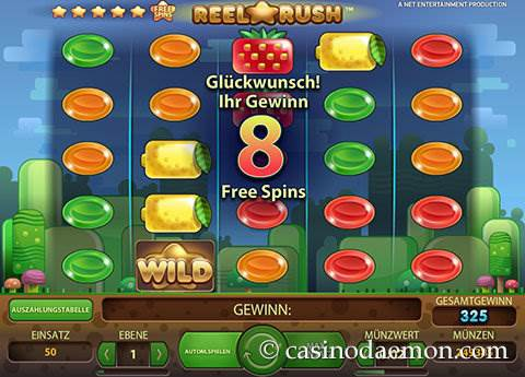 Reel Rush Spielautomat screenshot 2