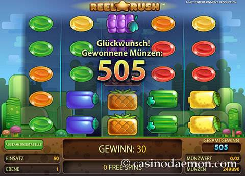 Reel Rush Spielautomat screenshot 3